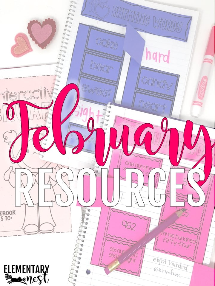 February activities for teaching primary students.