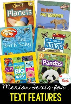 Mentor text for teaching text features.