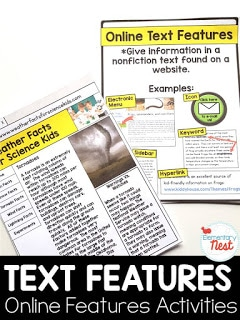 Web text features activity.