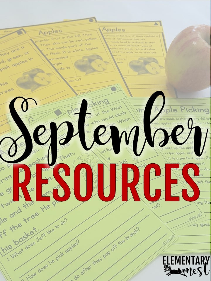 September activities and primary school teaching resources.