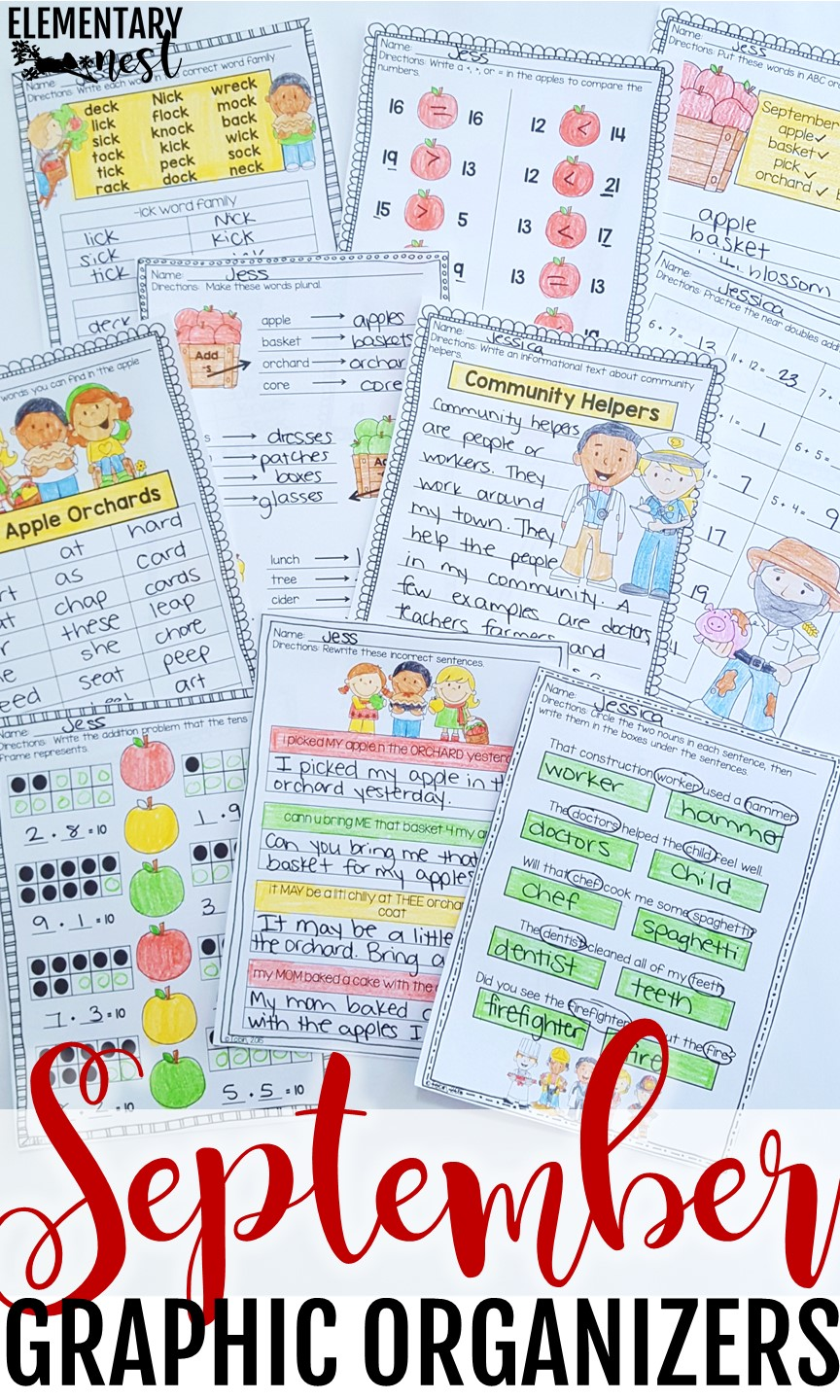 September ELA and Math activity sheets- September Activities and primary resources.