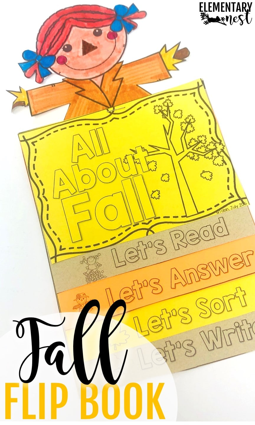 Fall-themed flip book for elementary students.