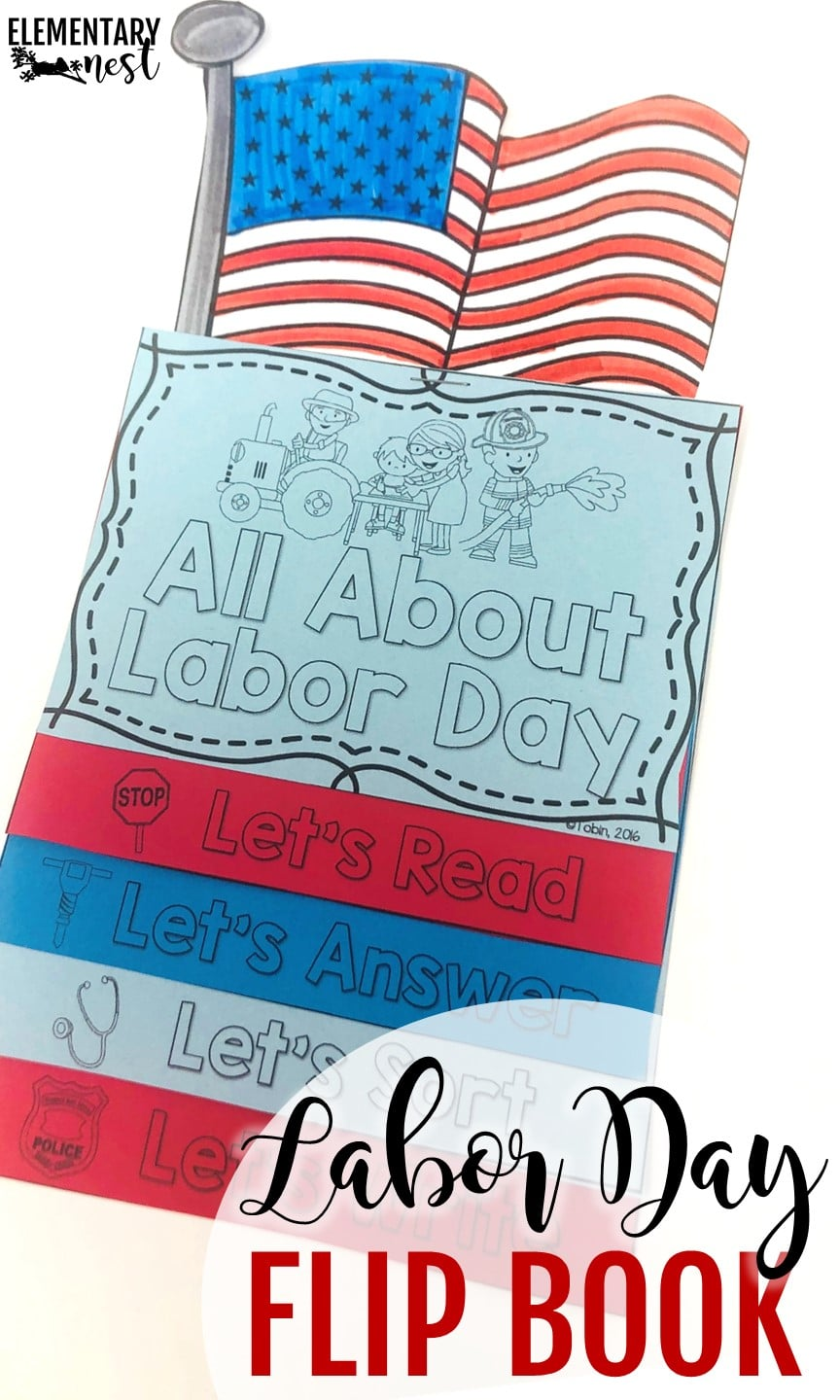 Labor Day reading flip book- September Activities and primary resources plus three FREEBIES- fun ELA, math, and social studies activities for students during the month of September.