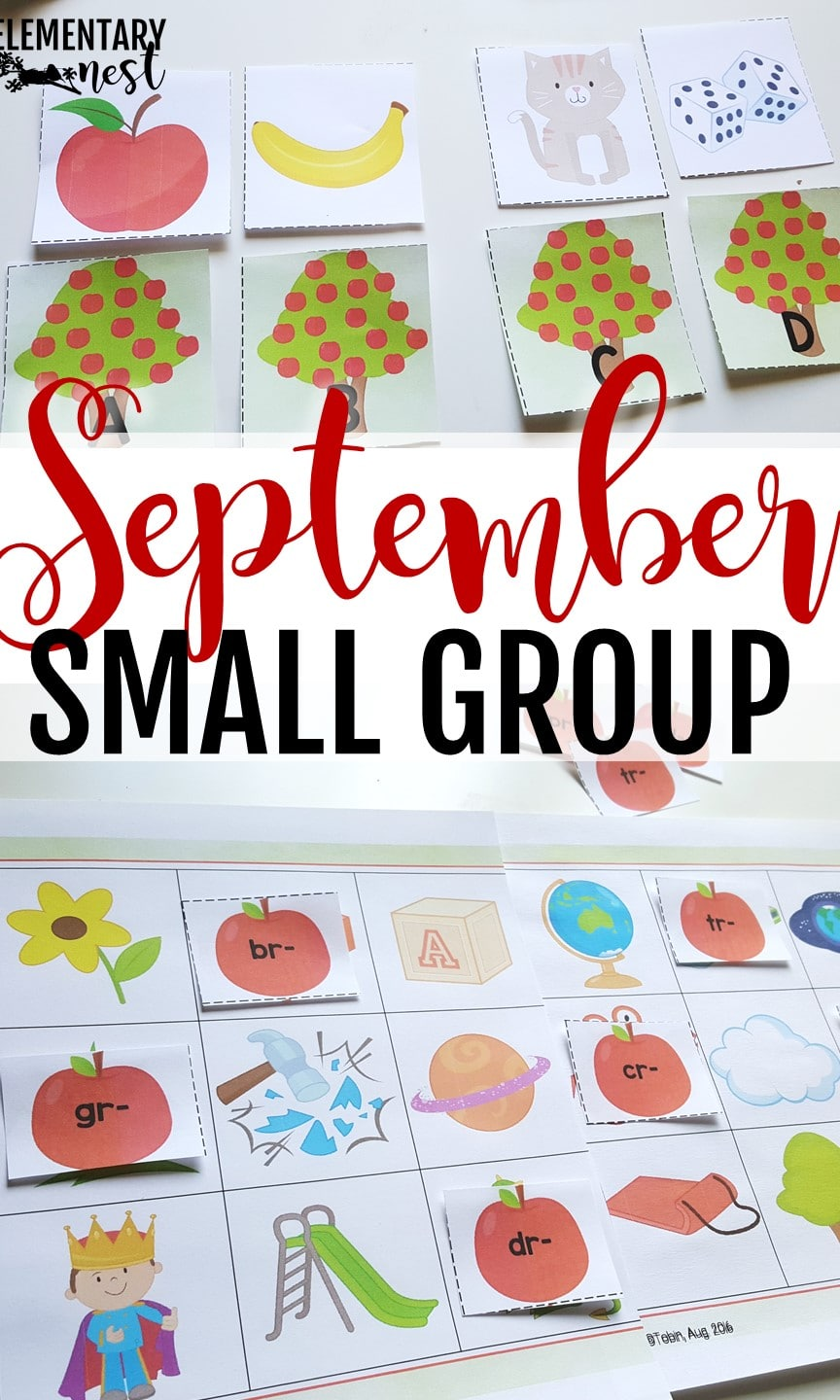 Intervention activities for early literacy- September Activities and primary resources plus three FREEBIES- fun ELA, math, and social studies activities for students during the month of September.