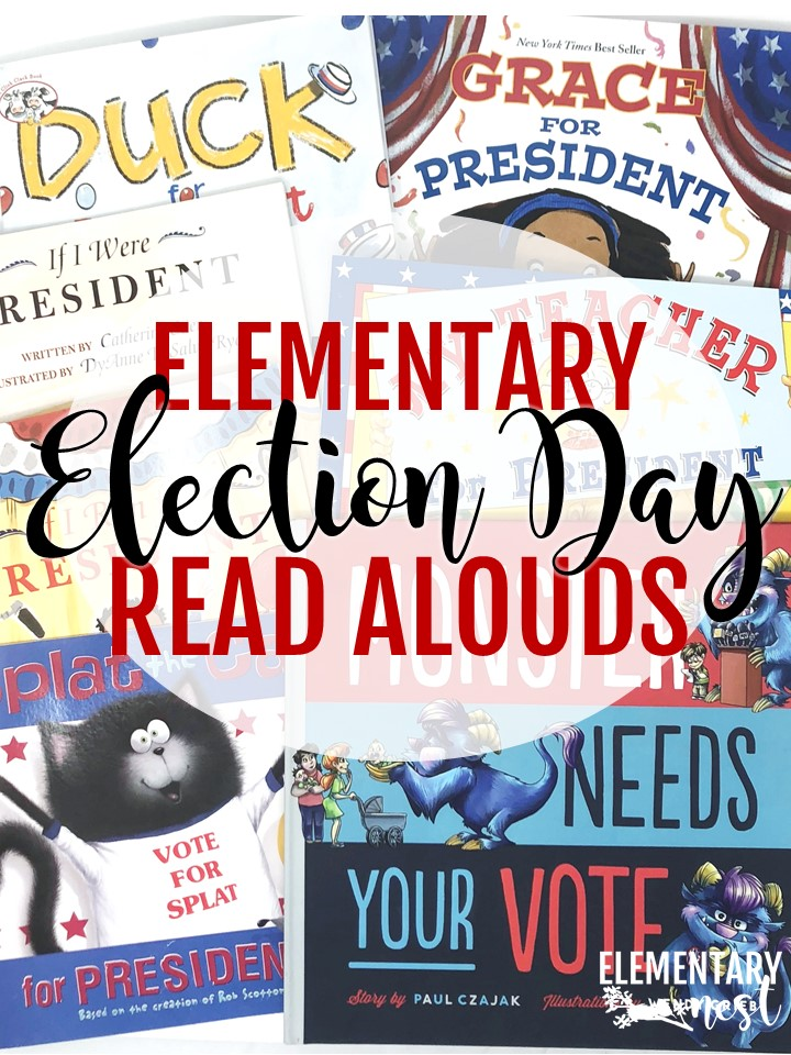 Election Day Read Alouds and stories for elementary teachers- election day activities, election day reading, president activities