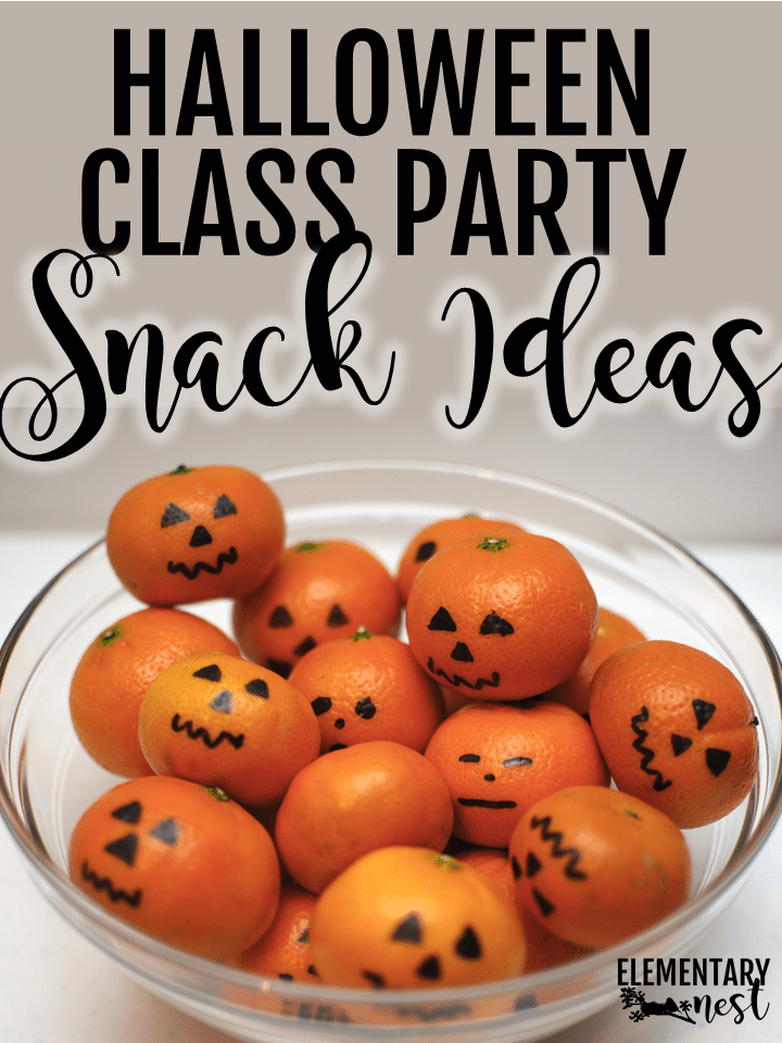 Classroom Halloween party snack ideas.