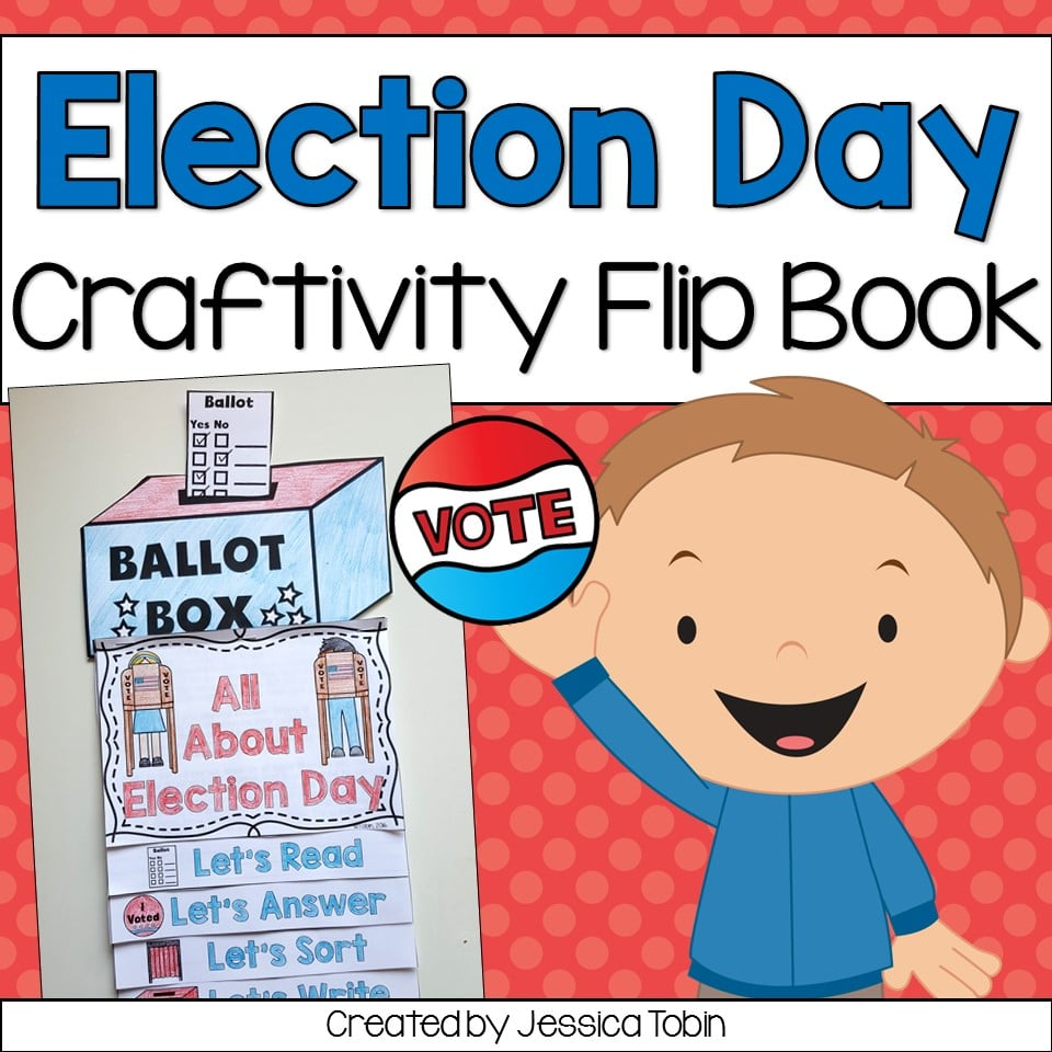Election Day Craftivvity Flip Book for 1st and 2nd grade students.