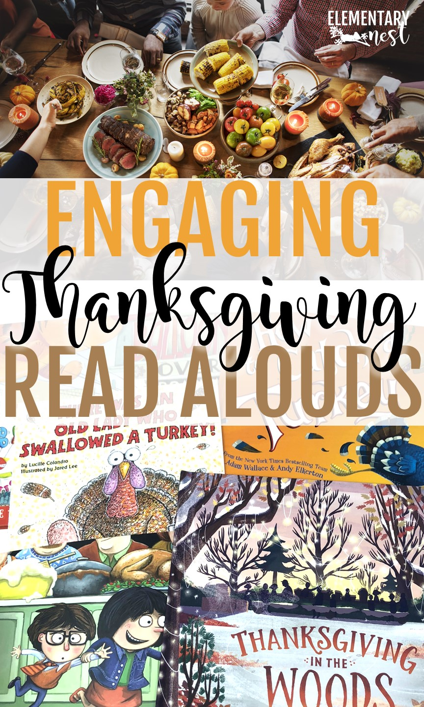 Thanksgiving Read Alouds and stories for elementary teachers- Thanksgiving activities, Thanksgiving reading