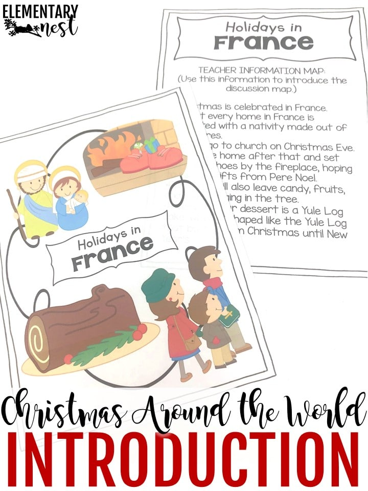 Christmas Around the World activities for the elementary classroom.