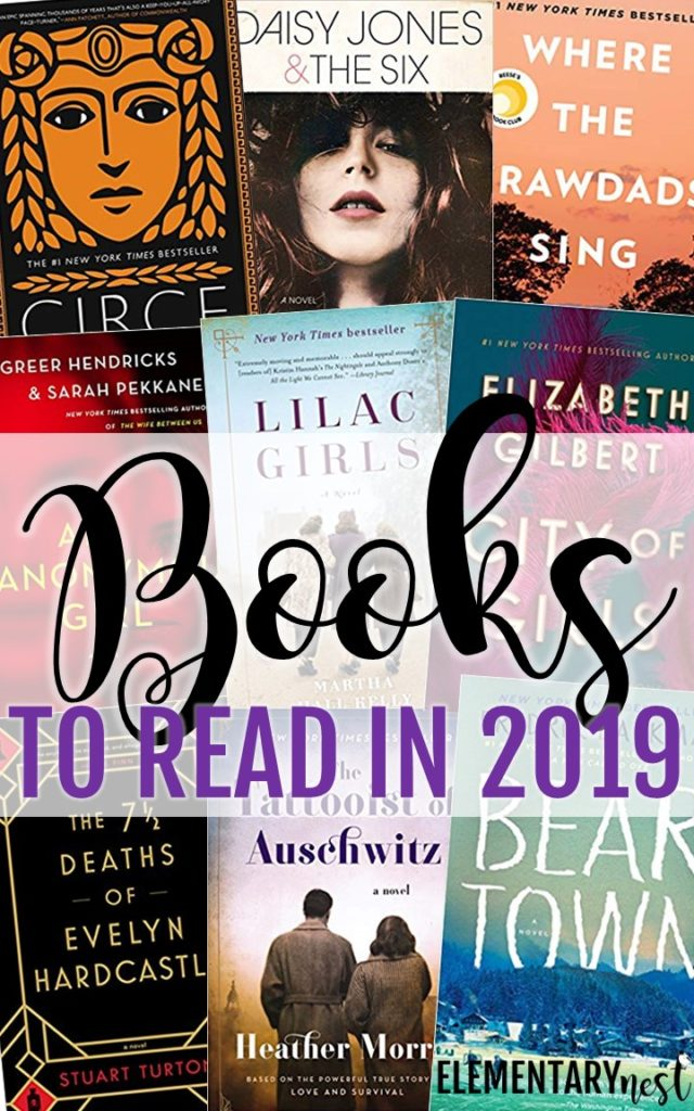 Images of books to read in 2019.
