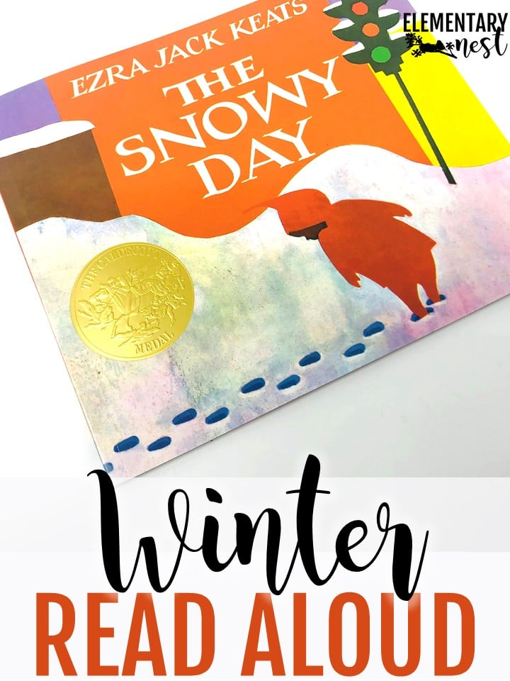 The Snowy Day winter reading activity for kids.