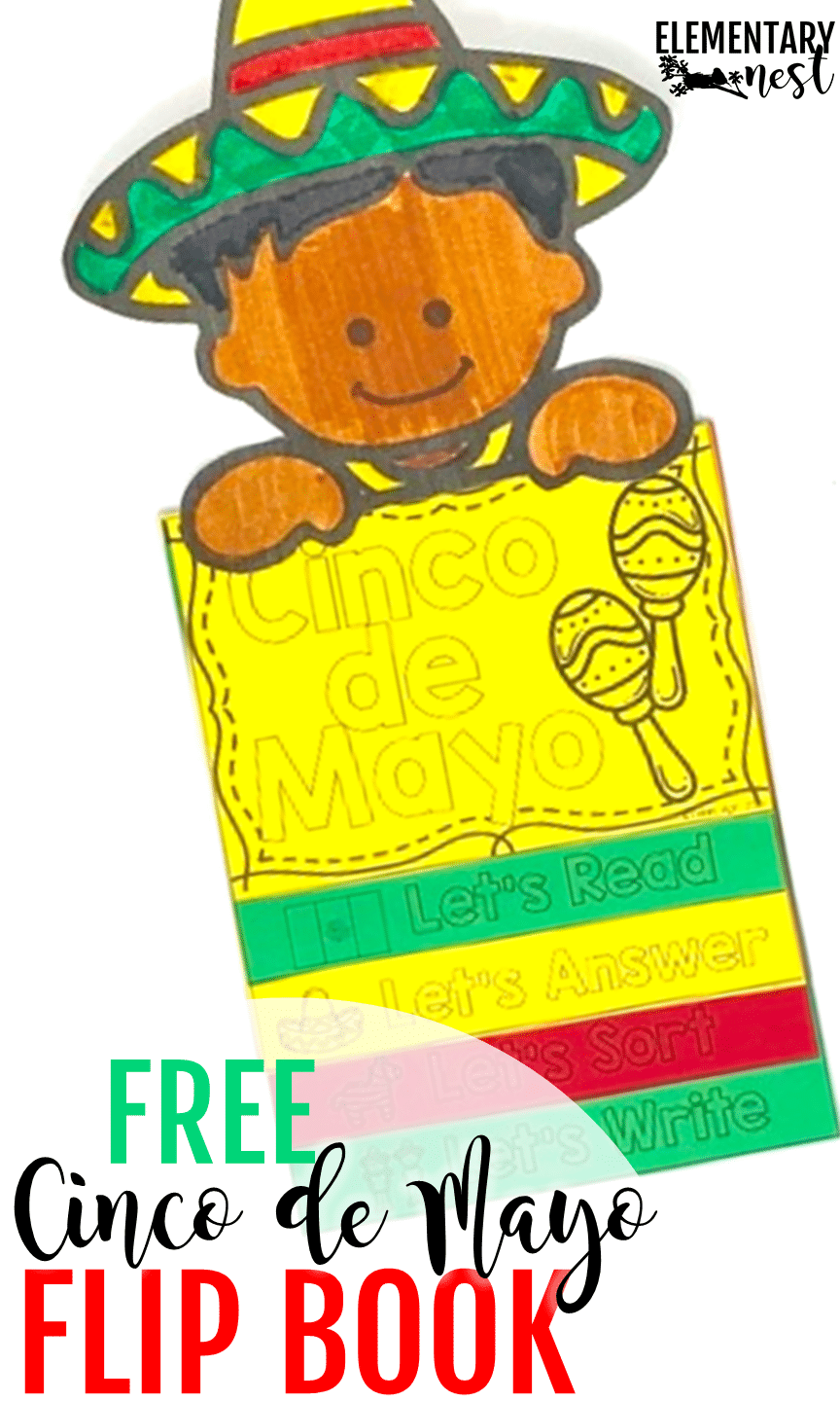 FREE Cinco de Mayo activity for kids with a nonfiction reading passage about Cinco de Mayo, plus reading comprehension activities.