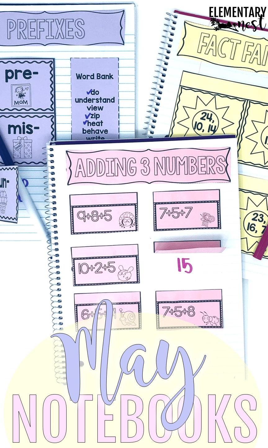 Interactive Notebooks for students to get hands-on practice with ELA skills and math skills.