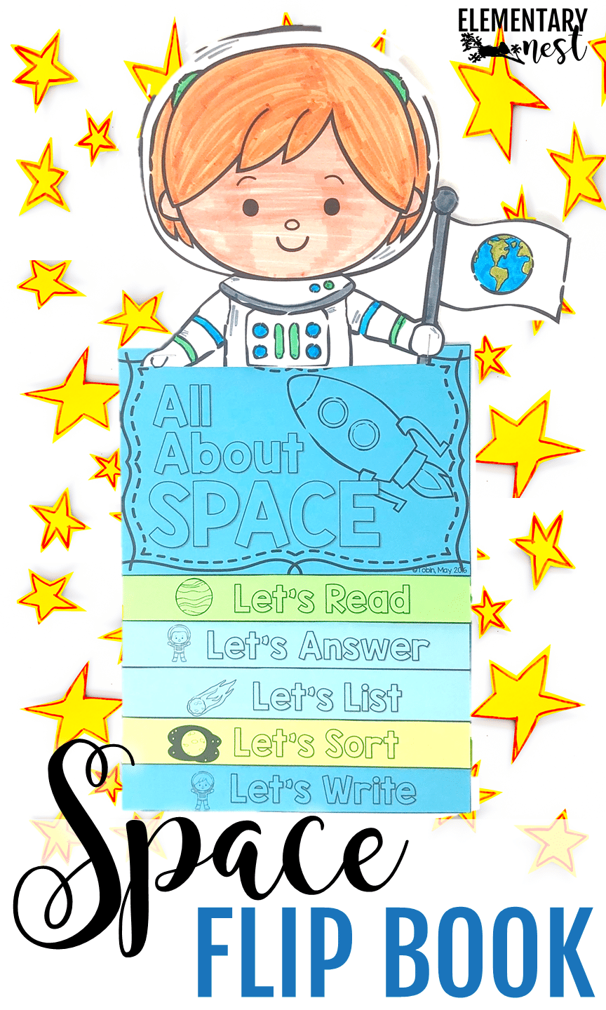 A reading flip book that teachers students about space and solar system while practicing their reading comprehension.