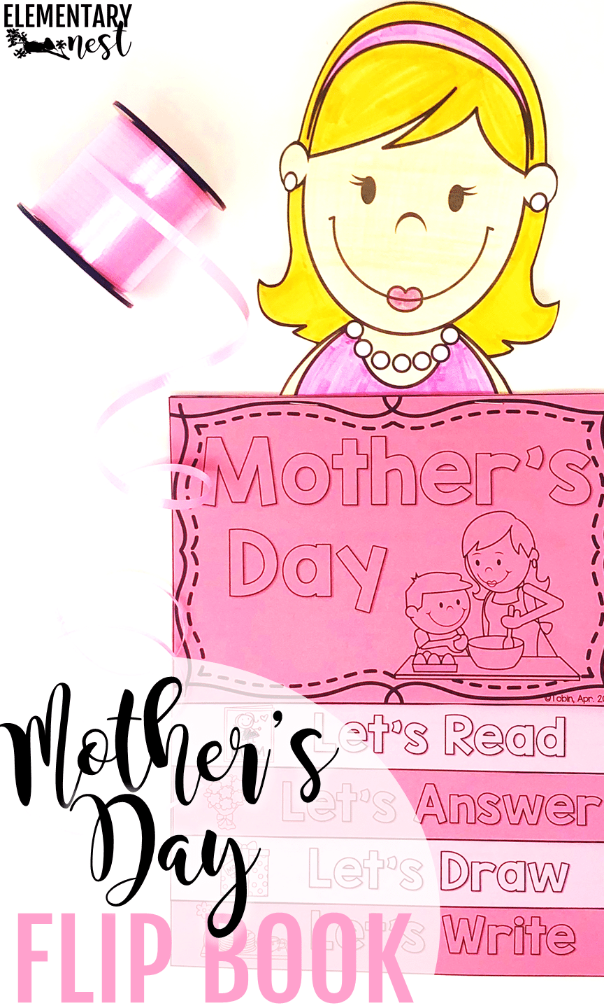 Mother's Day activ reading activity with follow-up Mother's Day comprehension and writing activities.