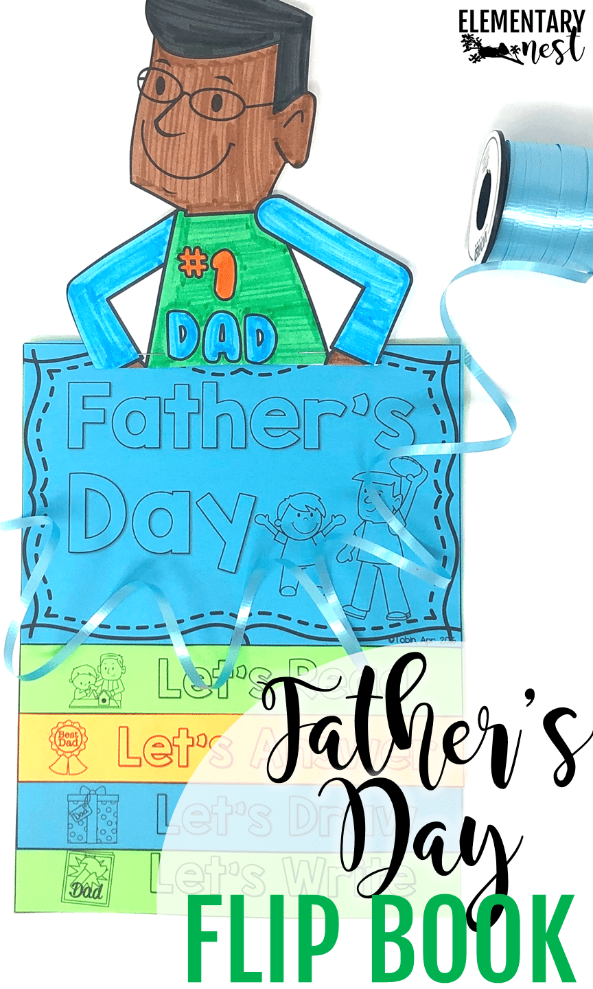 Father's Day reading activity with follow-up Father's Day comprehension and writing activities.