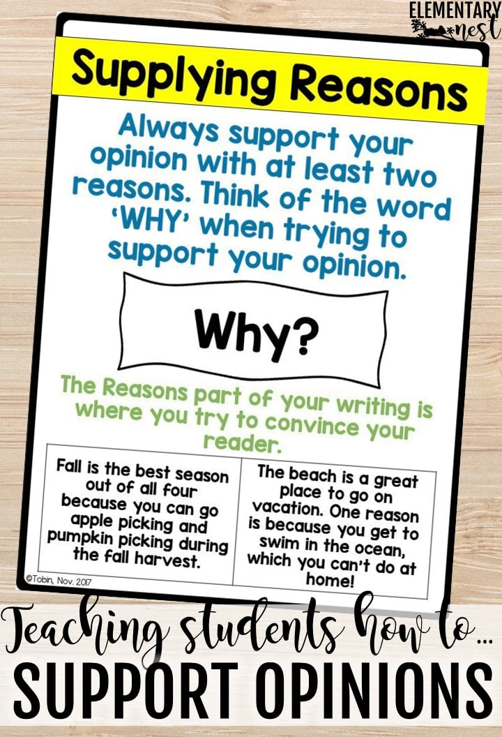 Opinion Writing anchor charts. How to teach opinion writing. Tips and tricks for opinion writing activities.