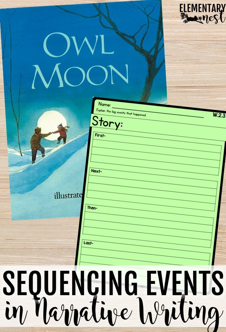 Owl Moon events- sequencing events in a narrative writing unit, lessons for events in narrative writing.