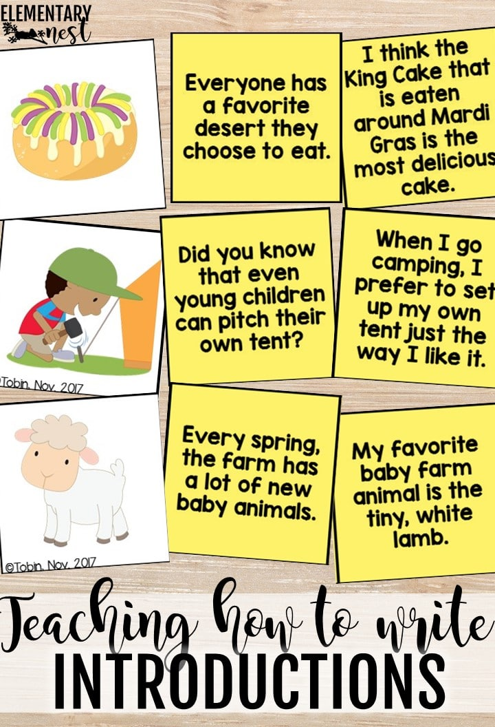 Teaching how to write introductions in opinion writing.