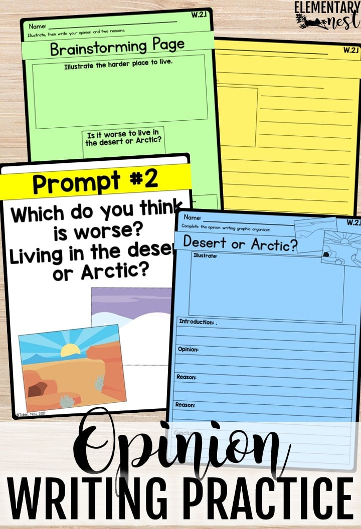Lesson plans for opinion writing.