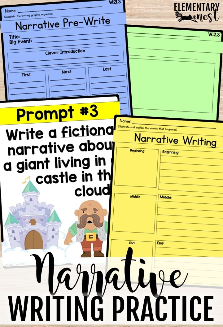 Narrative writing pieces and writing lesson plans.