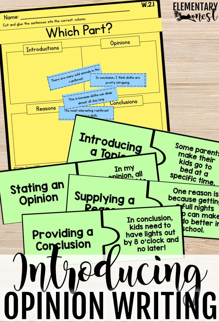 How to teach opinion writing. Tips and tricks for opinion writing activities.