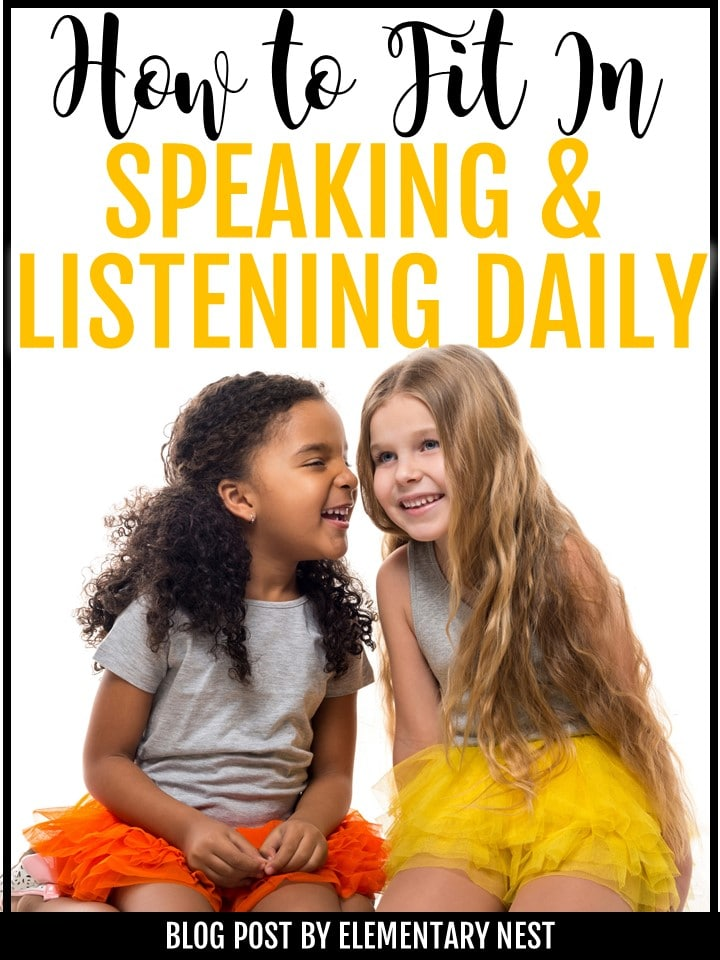 Blog post about speaking and listening.