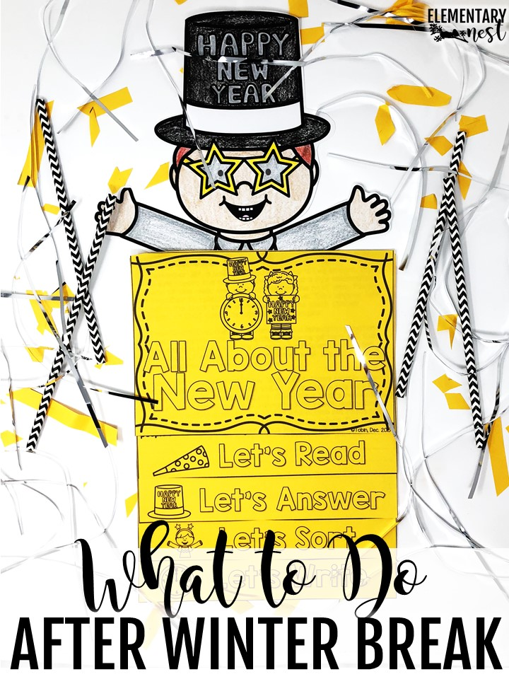 new years reading flip book- new years activities for kids- resolutions and goal-setting activities for kids