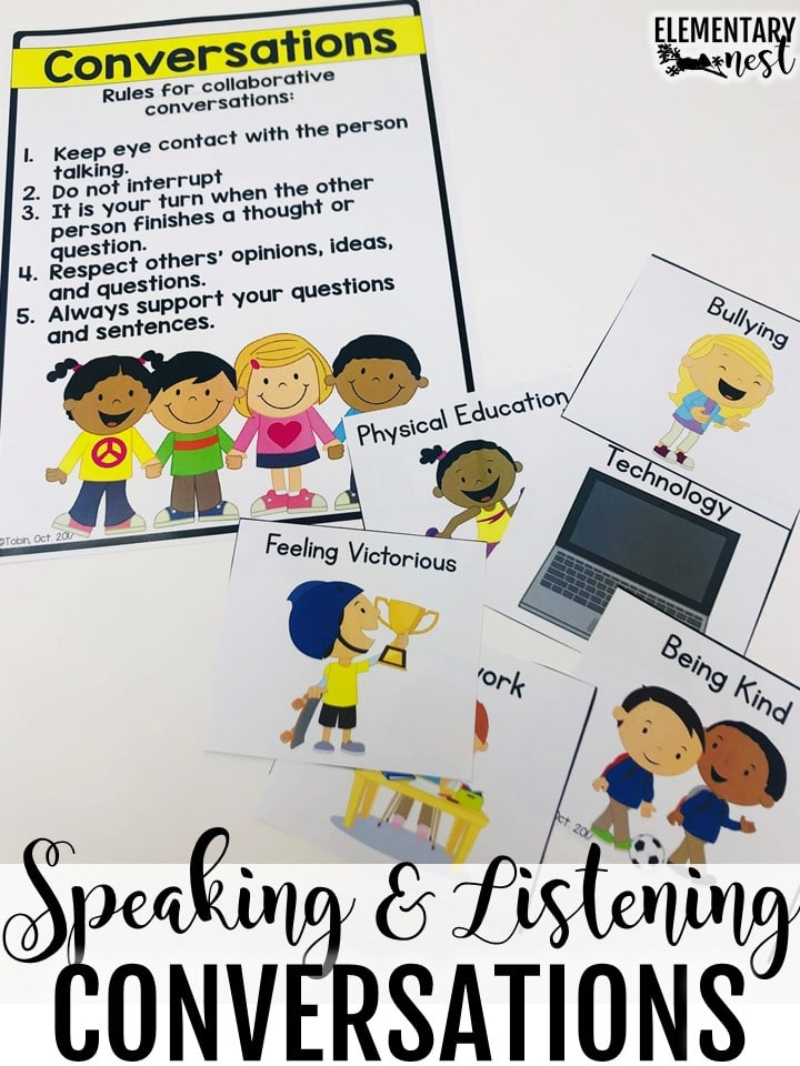 Speaking and listening conversations anchor chart.
