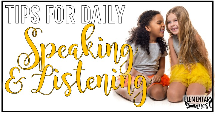 Blog post about teaching daily speaking and listening skills.