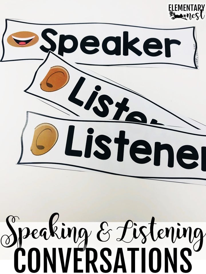 Speaking and listening conversations matching activity.