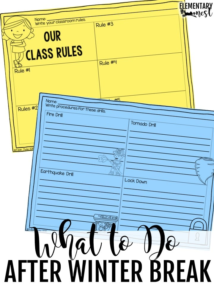 teaching rules and procedures the first few days after winter break- behavior management after winter break