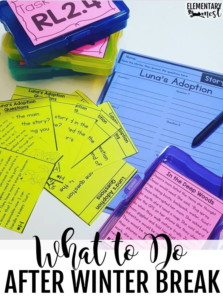 Comprehension task cards for primary school.