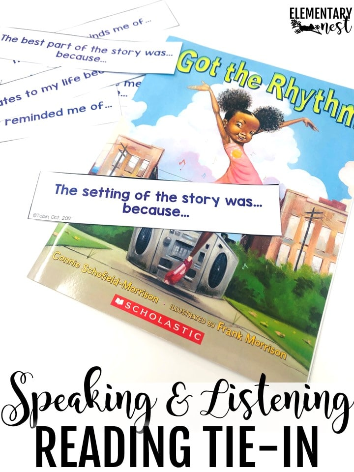 Speaking and listening during reading. Speaking and listening read alouds task card activity.