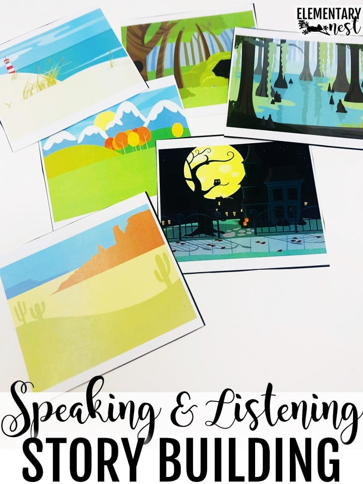 Speaking and listening story building activity.