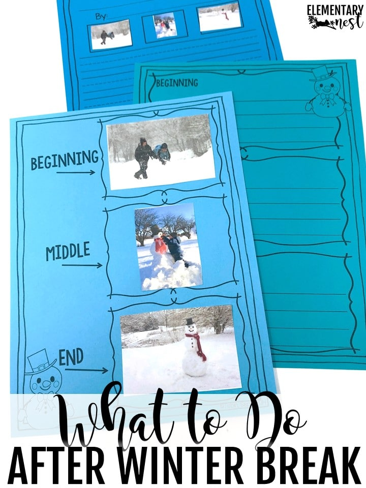 Winter writing activity- students cut and glue a narrative story with a winter theme.