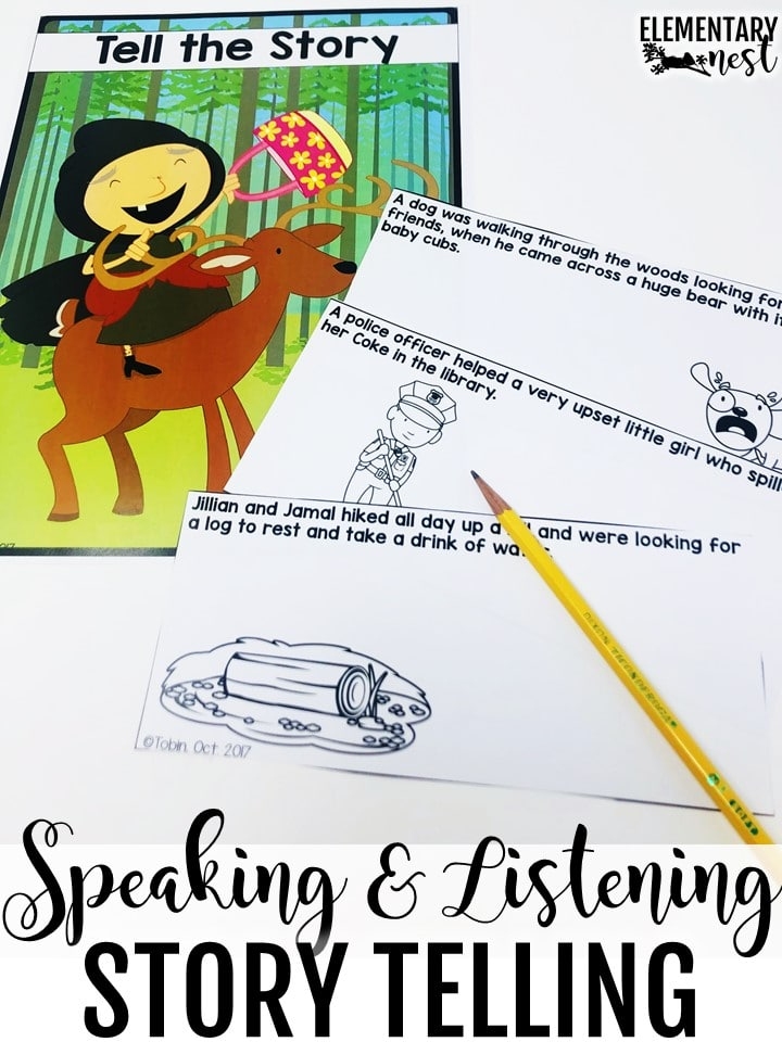 Speaking and listening story telling.