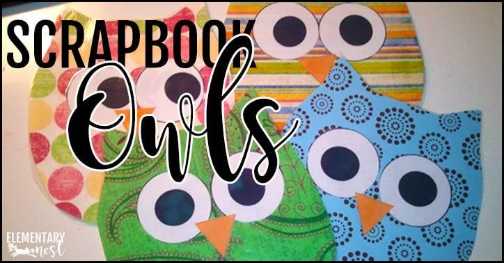DIY scrapbook paper owls