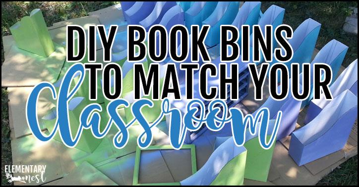 DIY book bins