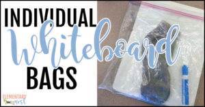 Individual whiteboard bags