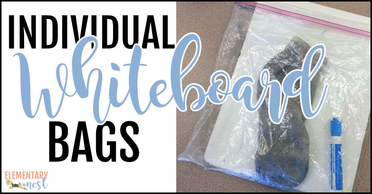 Setting up individual whiteboard bags