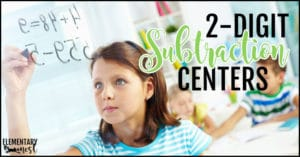 2-digit subtraction centers
