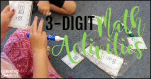 3-digit math activities