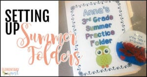 Setting up summer folders