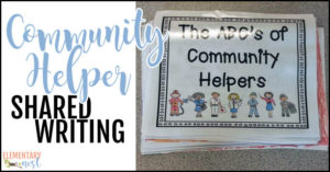 Community helper shared writing