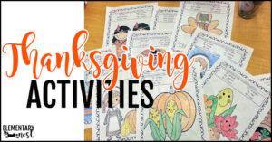 Quick Thanksgiving activities