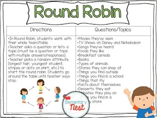 Round Robin activity for students to get to know each other.