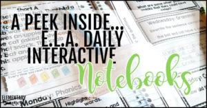ELA daily interactive notebooks