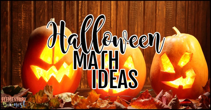 Halloween-themed math ideas for primary students.