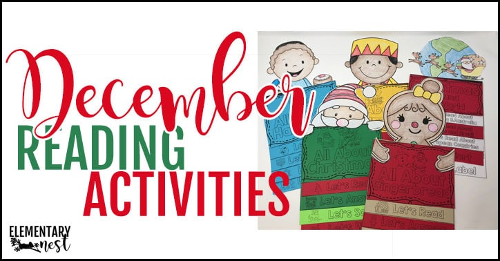 December reading activities for the primary classroom.